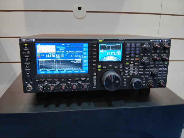 The TS-990S on display at the Kenwood booth.
