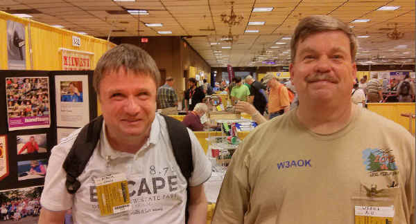 Christoph, DF9WM, and Bill, W3AOK, stopped by the Handiham booth to pay us a visit.