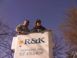 Matt in the bucket truck lift