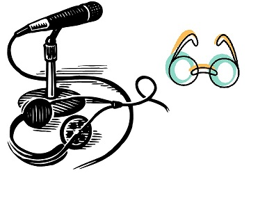 Microphone & eyeglasses (drawing)