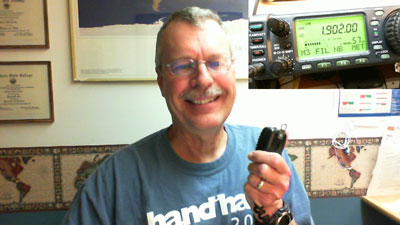 Pat, WA0TDA, on 1.902 MHz with IC-706