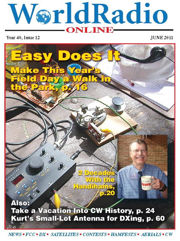 Worldradio Online June 2011 cover with picture of Pat Tice, WA0TDA.