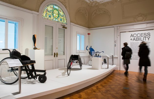 "photo of Access+Ability exhibit featuring new wheel chair designs"" width="