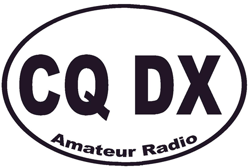 Oval shaped logo with CQ DX inside