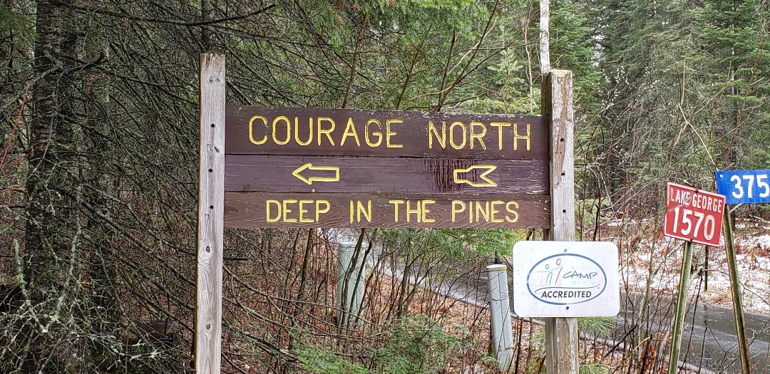 Photo of the sign at the entrance to True Friends Camp Courage North
