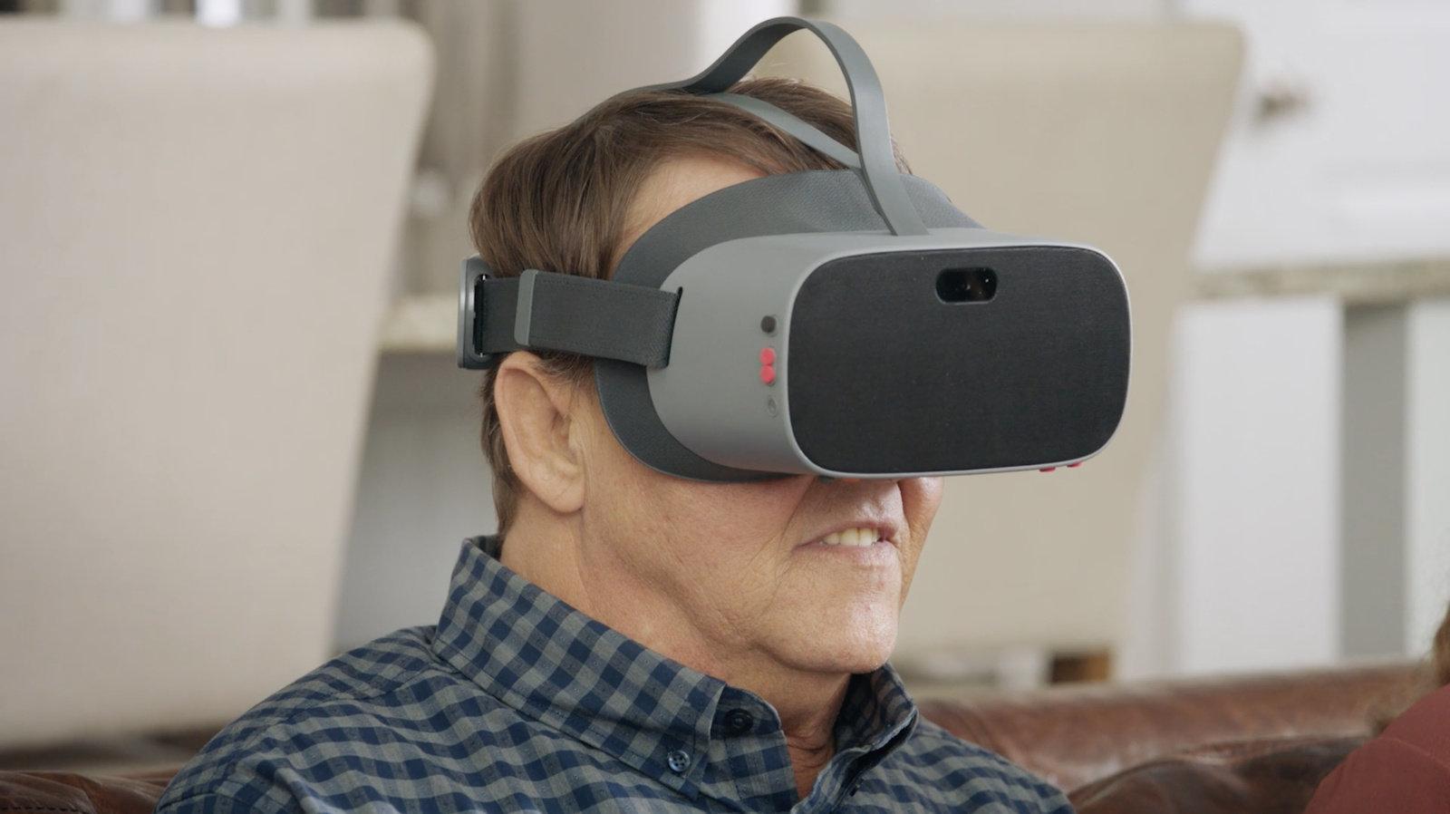 photo of man wearing NuEyes headset