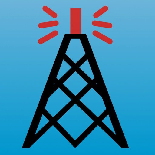 Photo of Echolink logo with a drawing of a tower and antenna.