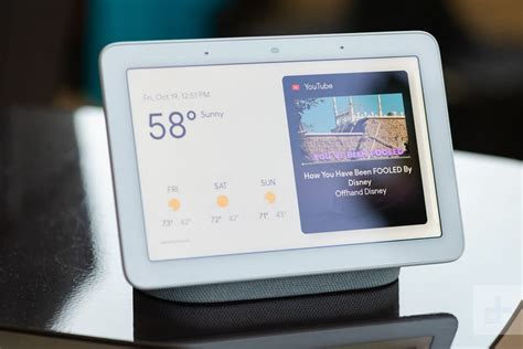 Photo of Google Nest Hub smart home device.