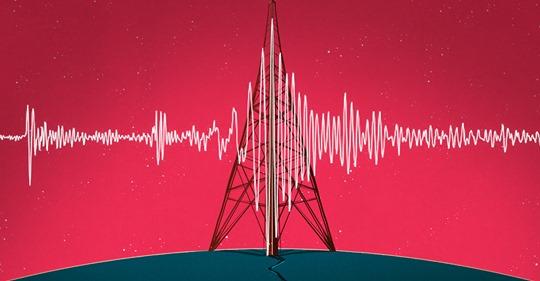 seismograph printing over amateur radio antenna