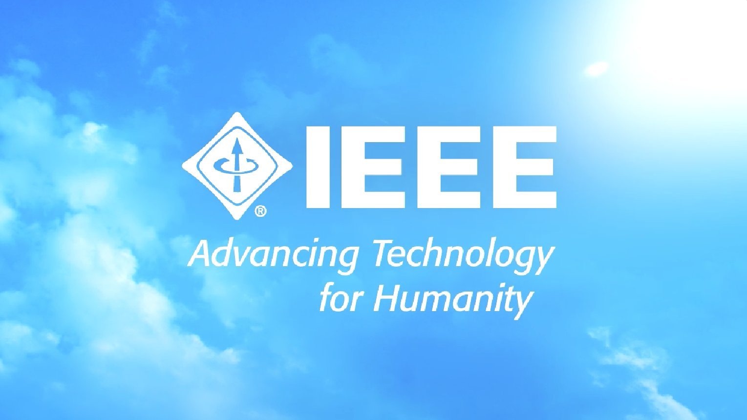 Photo of IEEE logo with the words, advancing technology for humanity below.