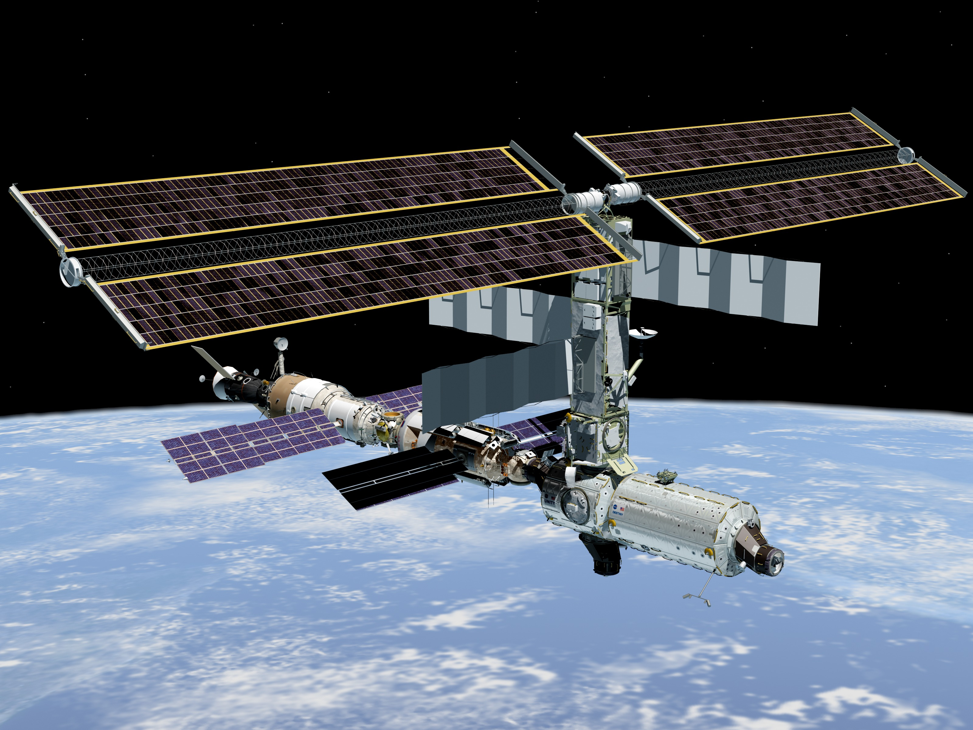 Photo of the ISS.