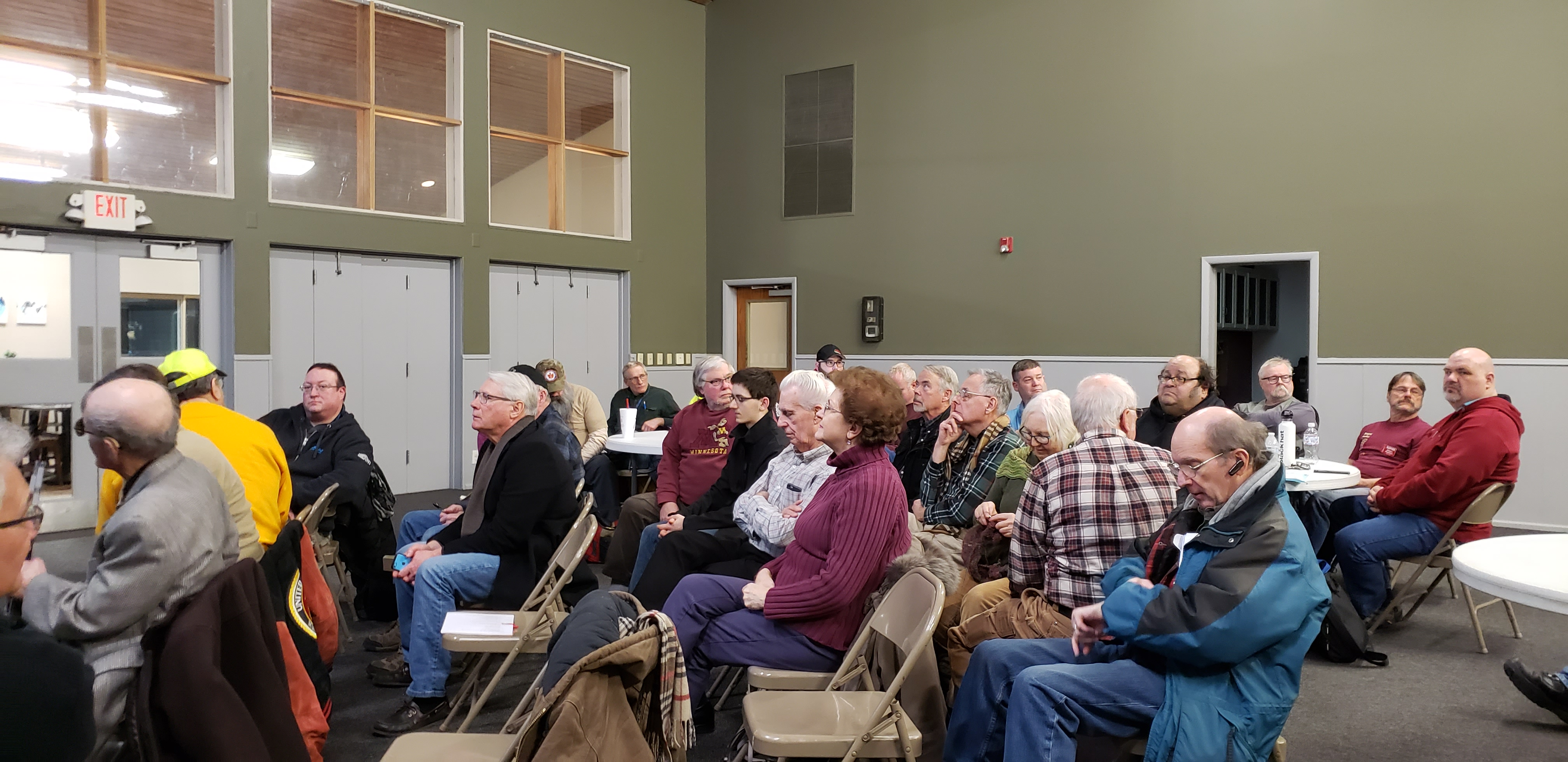 Photo of February 2020 Maple Grove Radio Club meeting.