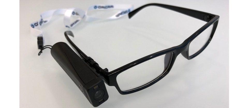 Photo of OrCam MyEye assistive technology device.