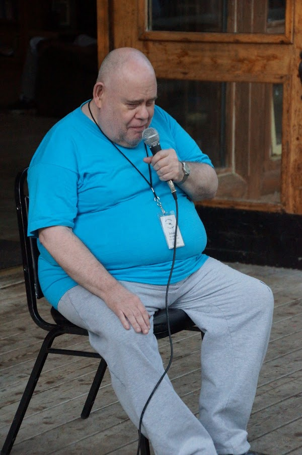 photo of Johnny doing his comedy routine