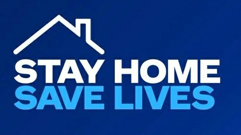 sign with stay home, save lives