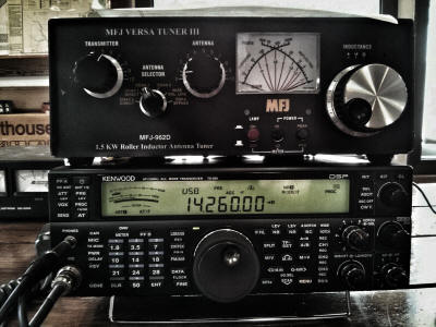 TS-590S and antenna tuner