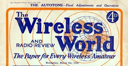 Wireless World Magazine cover: The paper for every wireless amateur