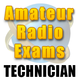 Photo of sign with amateur radio exams technician printed on it.