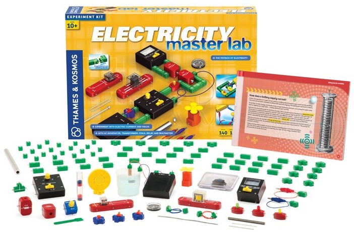 Electricity Master Lab kit displaying box with contents