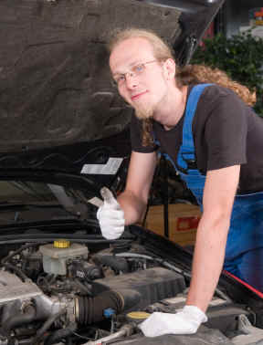 Hippie mechanic: What kind of guy drives a Vega?  Loser!