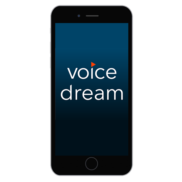 photo of voice dream app logo on smart phone