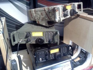 Stack of IC-7200s at Dayton one year.